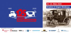 """Titelblatt des Jubiläumsprogramms """"125 Jahre Motor-Omnibus"""""""